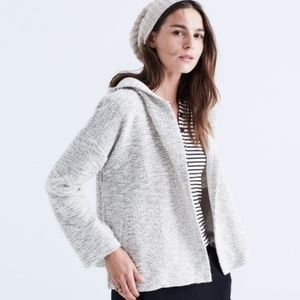 MADEWELL Textural hooded sweater cardigan